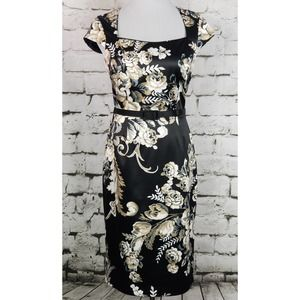 WHBM Belted Floral Sheath Dress